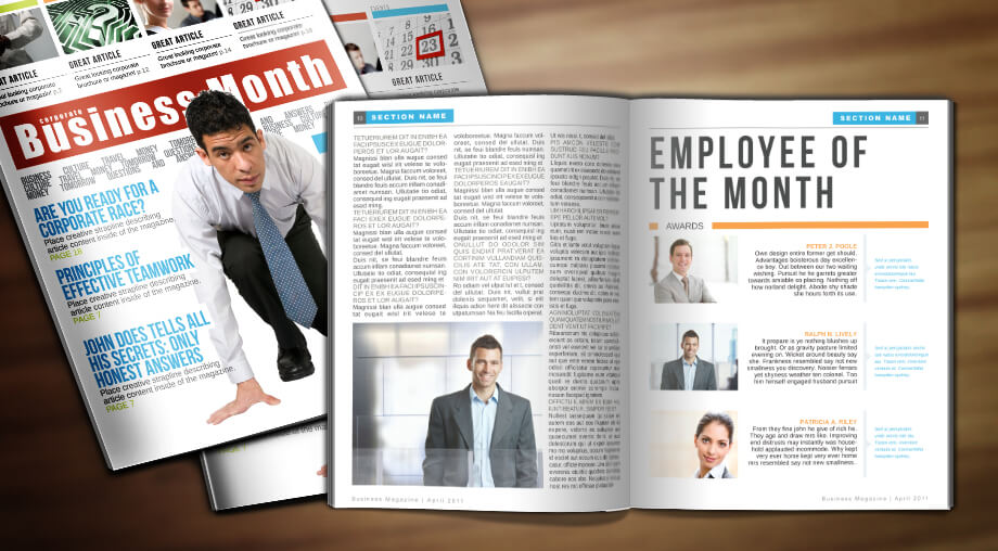 business week template corporate indesign magazine template