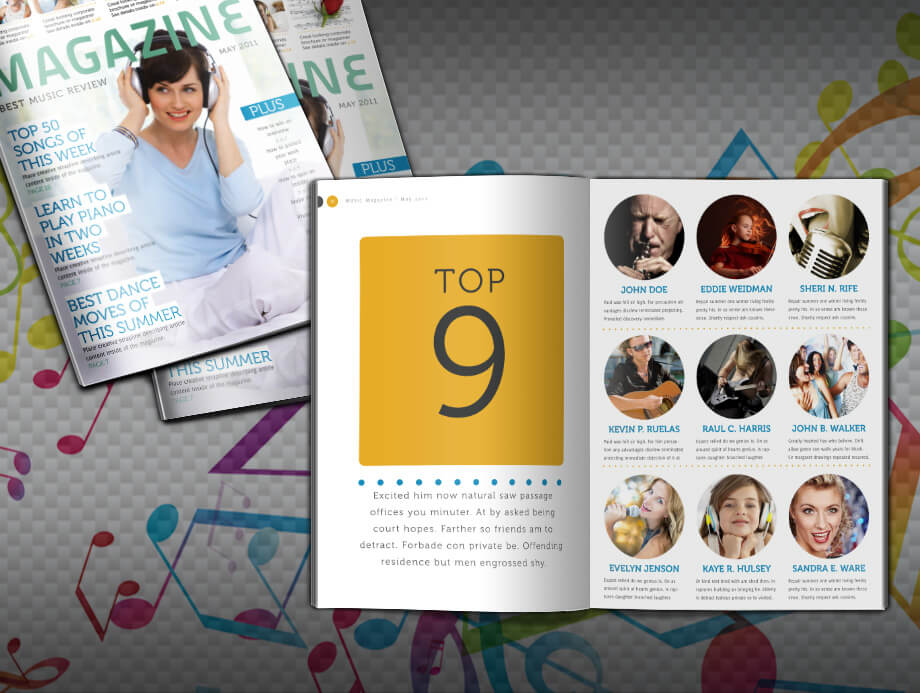 Music Magazine Template Download 20 Pages For Fashion Music Art