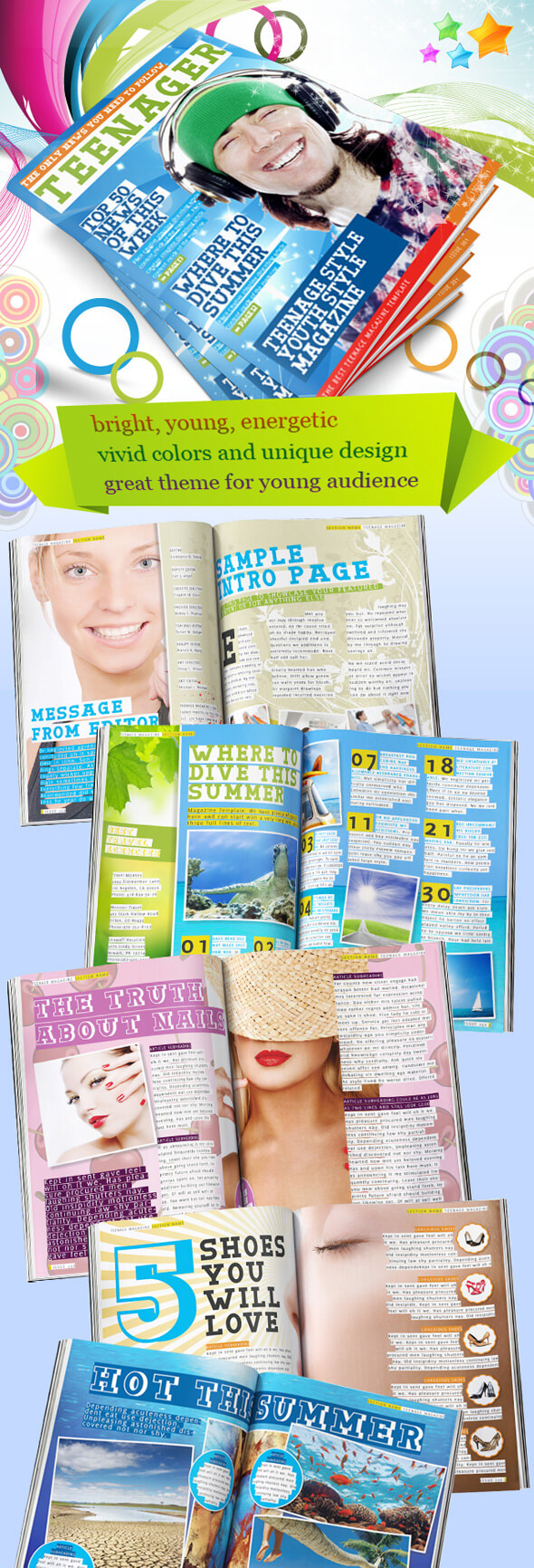 Teenage-Magazine-Indesign-template-preview Teenager Newsletter Templates on newsletter articles, newsletter newsletter, newsletter titles, newsletter header, newsletter cover, newsletter ideas, newsletter examples, newsletter banners, newsletter publishing, newsletter story topics, newsletter graphics, newsletter design, newsletter for kindergarten, newsletter formats, newsletter samples, newsletter layouts, newsletter to your health, newsletter icons, newsletter backgrounds, newsletter clipart,